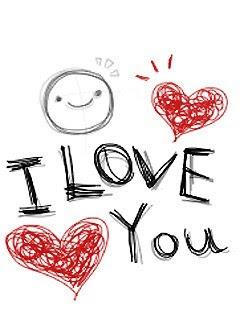 Volim te čestitka za Valentinovo slike besplatne pozadine za mobitele