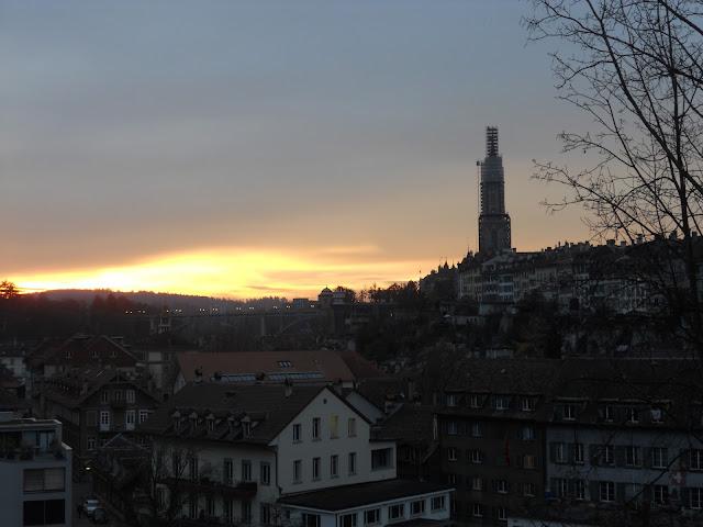 Sunset Bern Switzerland