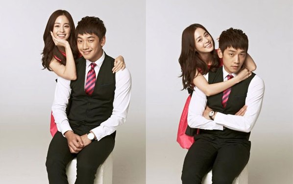 Kim Tae-hee with Rain photos