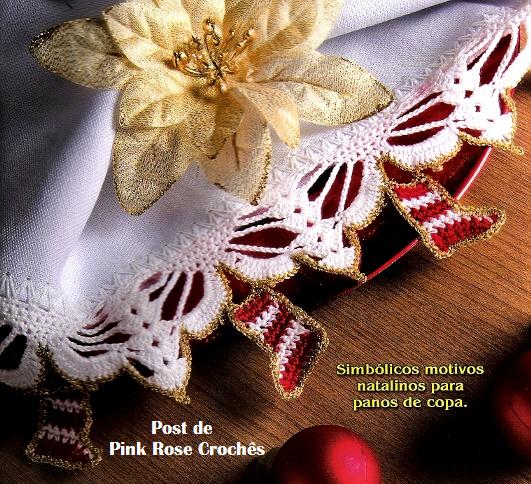 Puntilla navideña para aplicar a servilletas
