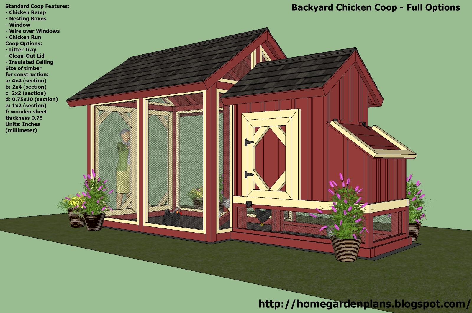 Home garden plans news s101 small chicken coop free for Chicken coop size for 6 chickens