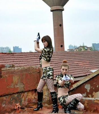 Girls from the Chinese Army