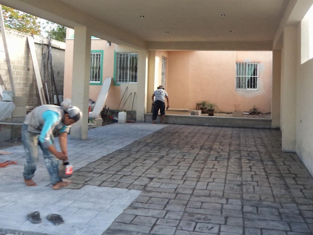 Dise a estudio concreto estampado - Pintura para cemento ...