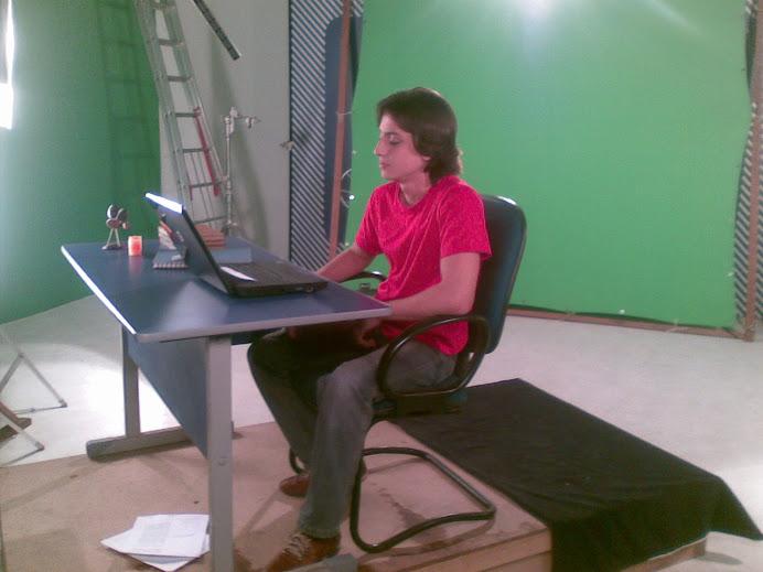Stefano Gilheta estreando na TV
