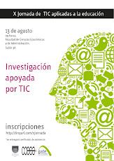 Afiche X Jornada de TIC aplicadas a la educación para docentes de la FCEA