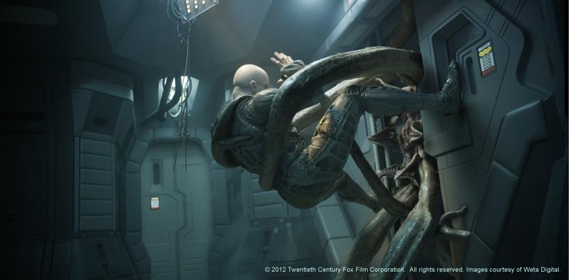 V cio de cinema filmes 2012 prometheus for Prometheus xenomorph mural