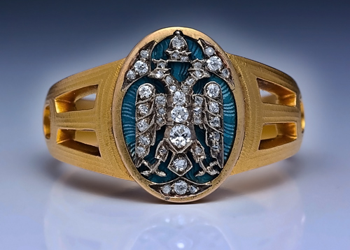 Faberge Ring For Mens