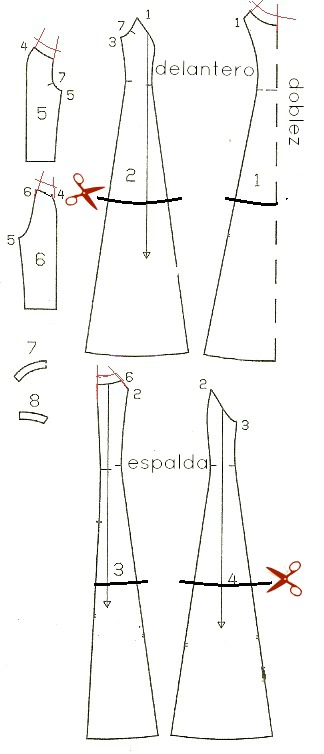 como modificar patrones de vestido