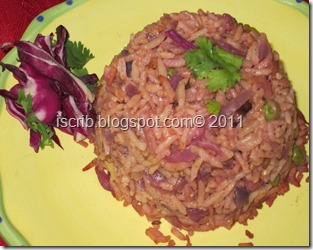 Purple cabbage pulav