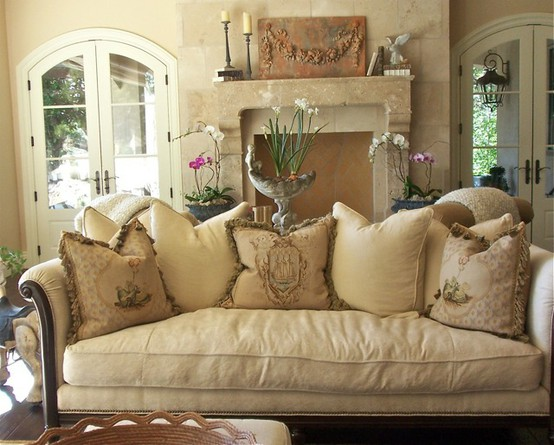 French Country Style Living Room Sofas