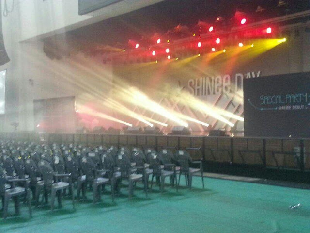shinee's 5th anniversary debut party venue