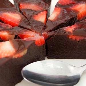 Resep Puding Coklat Strawberry