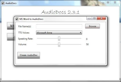 AudioDocs - Convert Word Documents to Audio Files