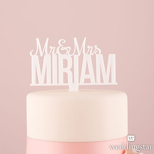 http://www.weddingfavoursaustralia.com.au/products/personalised-mr-and-mrs-white-acrylic-cake-topper