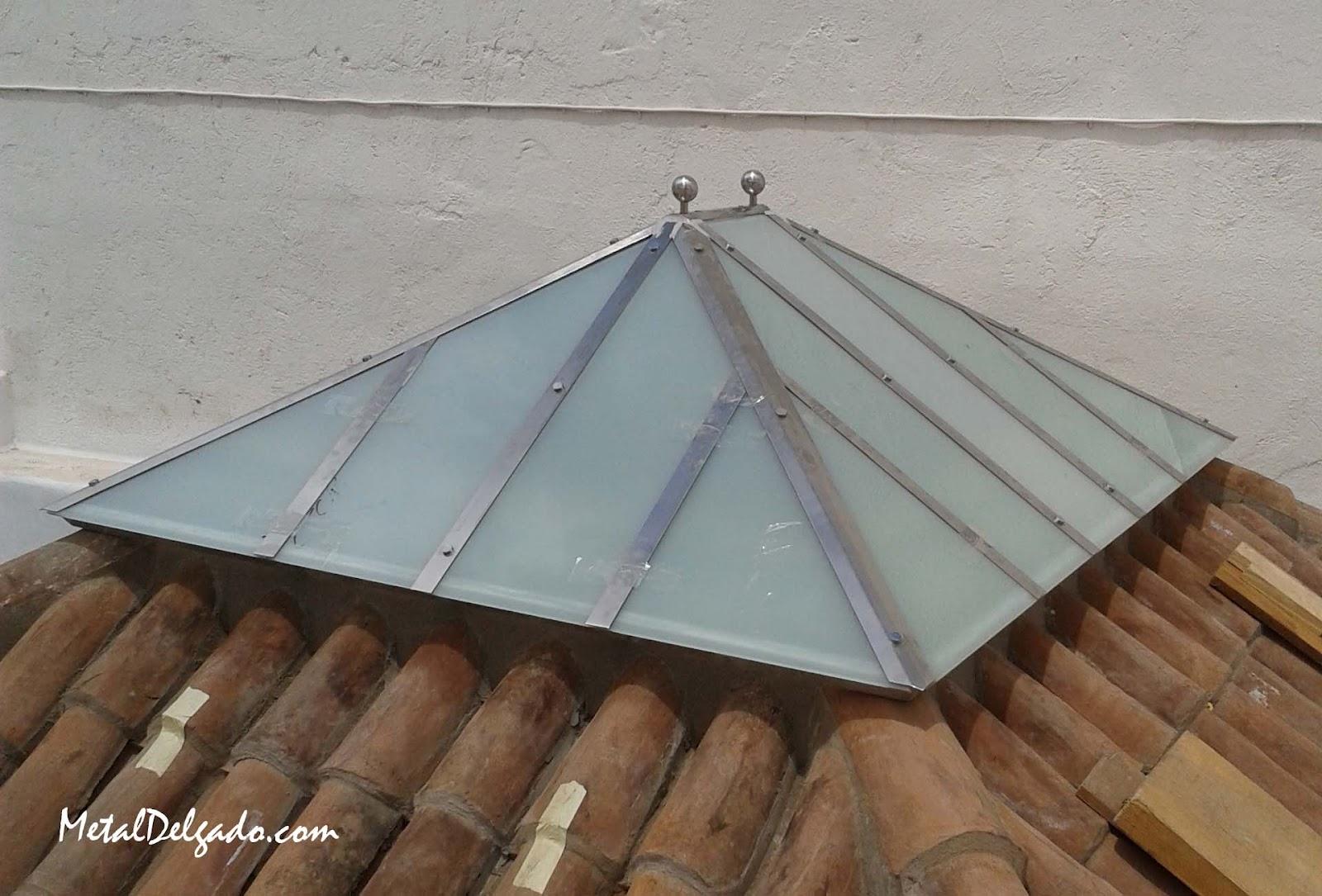 Acero inoxidable tenerife techo de cuatro aguas for Como hacer un techo a cuatro aguas