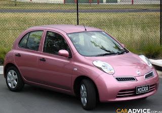 pink Nissan car
