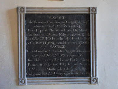 memorial at Veryan church, Cornwall