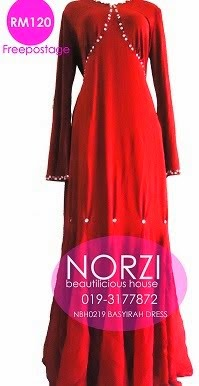 NBH0219 BASYIRAH DRESS (NURSING FRIENDLY)