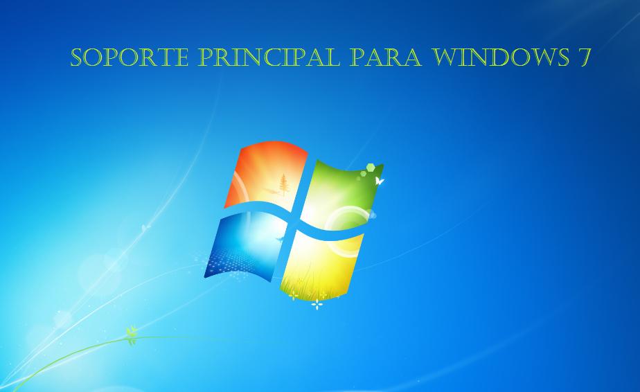 Se termina el soporte principal para windows 7