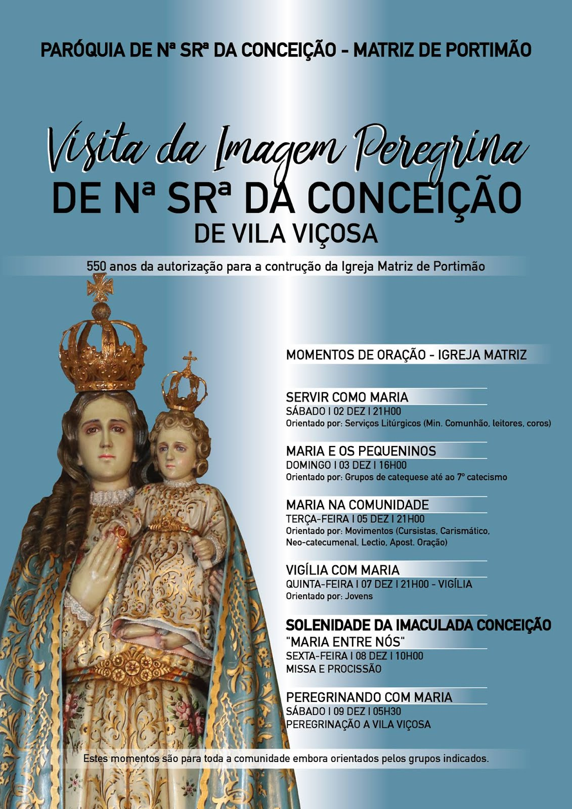 Visita Imagem Nª Srª Conceição/Vila Viçosa