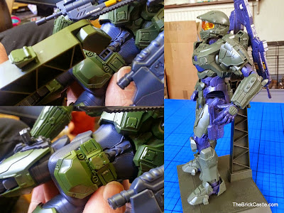 How does the stand work for Halo Master Chief Bandai SpruKit