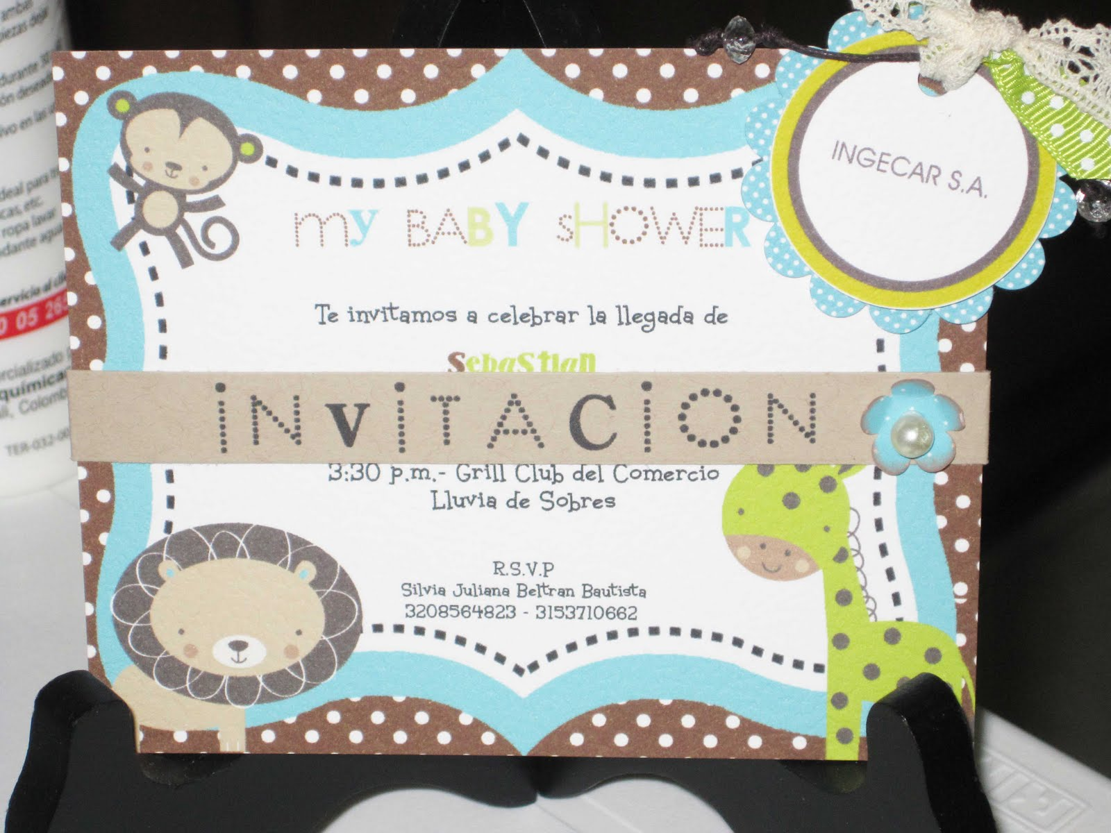 Moms-Angels: Otro modelo de tarjeta Invitacion Baby Shower niño