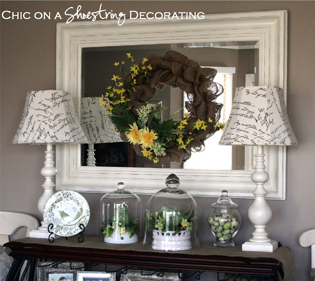 chic on a shoestring decorating spring decor a kitchen