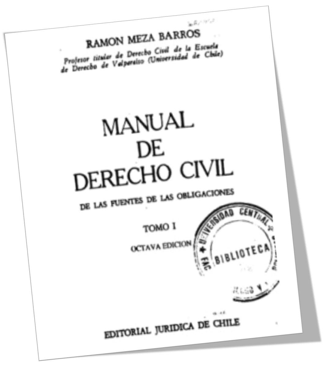 TÍTULO : MANUAL DE DERECHO CIVIL – DE LAS FUENTES DE LAS