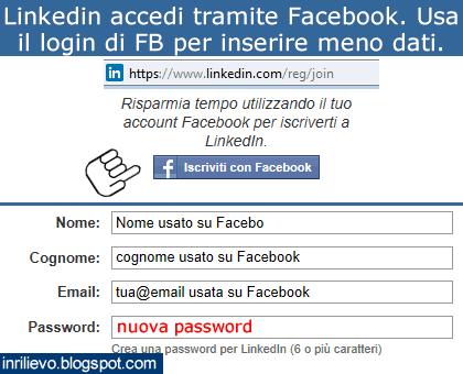 linkedin accedi facebook
