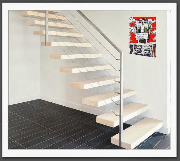 les escalier suspendu monolith en b ton cir escalier. Black Bedroom Furniture Sets. Home Design Ideas
