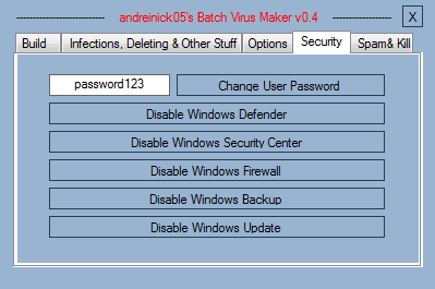 Andreinick05's Batch Virus Maker by nerdprogrammer.in