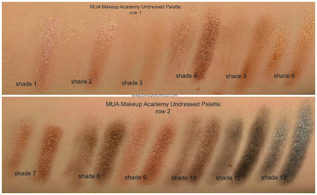 MUA Makeup Academy Undressed Palette swatches