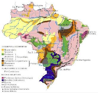 formações rochosas do território brasileiro