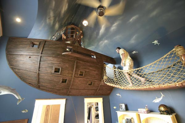 pirate, ship, children's bedroom