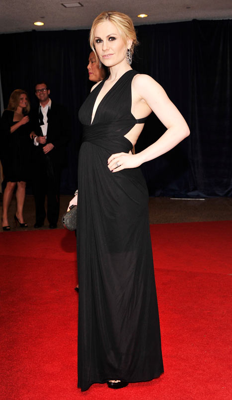 Anna Paquin And Gown White House