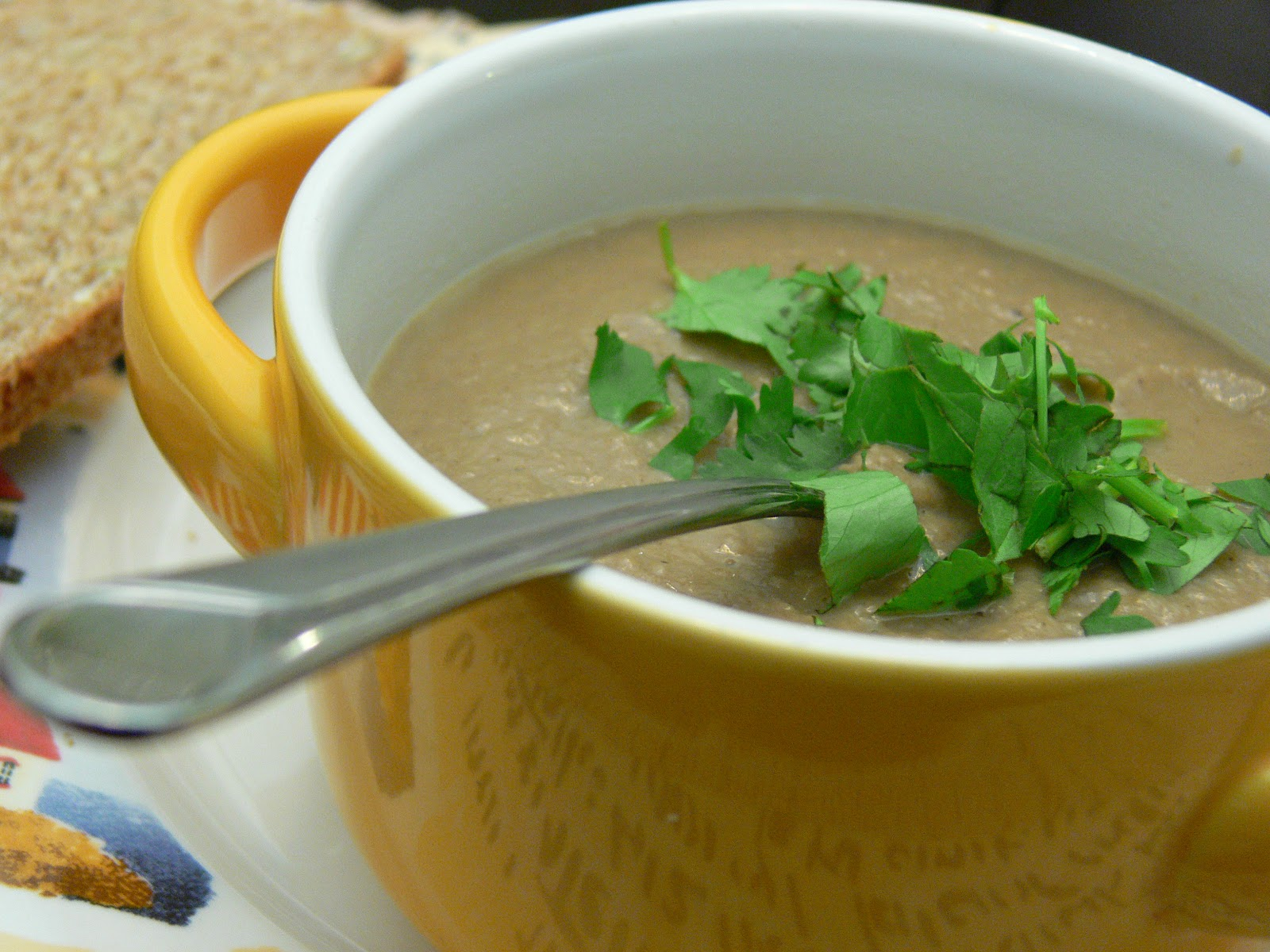 Vegan Creamy Mushroom Soup |Vegan Faith