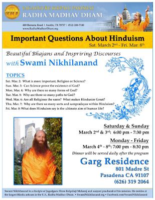 Kripaluji Maharaj kirtan, meditation and lectures in Pasadena, California