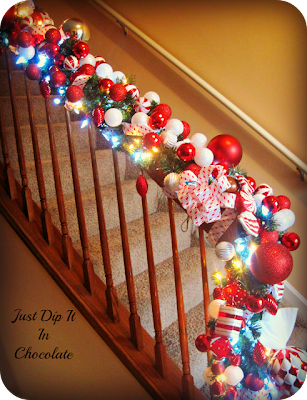 Decorate a banister for Christmas