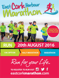 East Cork Harbour Marathon, Half-Marathon & 10k...Sat 20th Aug