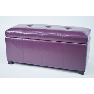 Purple bedroom ideas: Ariel bedroom bench