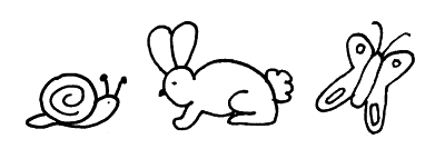 spring digi stamp rabbit bunny snail butterfly free download tansparent