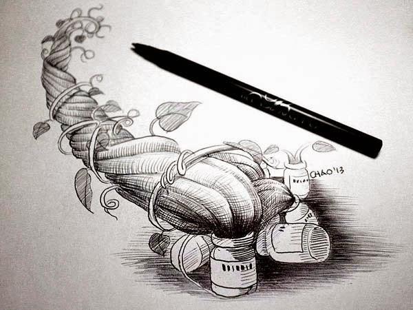 趙彥宇醫師 畫  傑克與碗豆