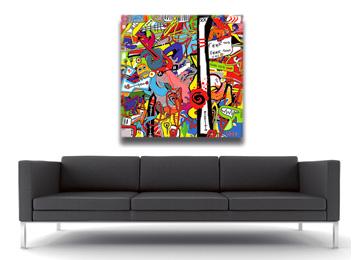 graffiti, graffiti style, modern, wall art, digital painting, multi coloured, artist,