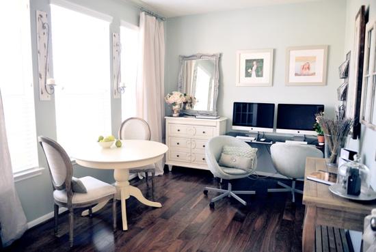 Updating my office sunroom julie blanner entertaining for Sunroom office design