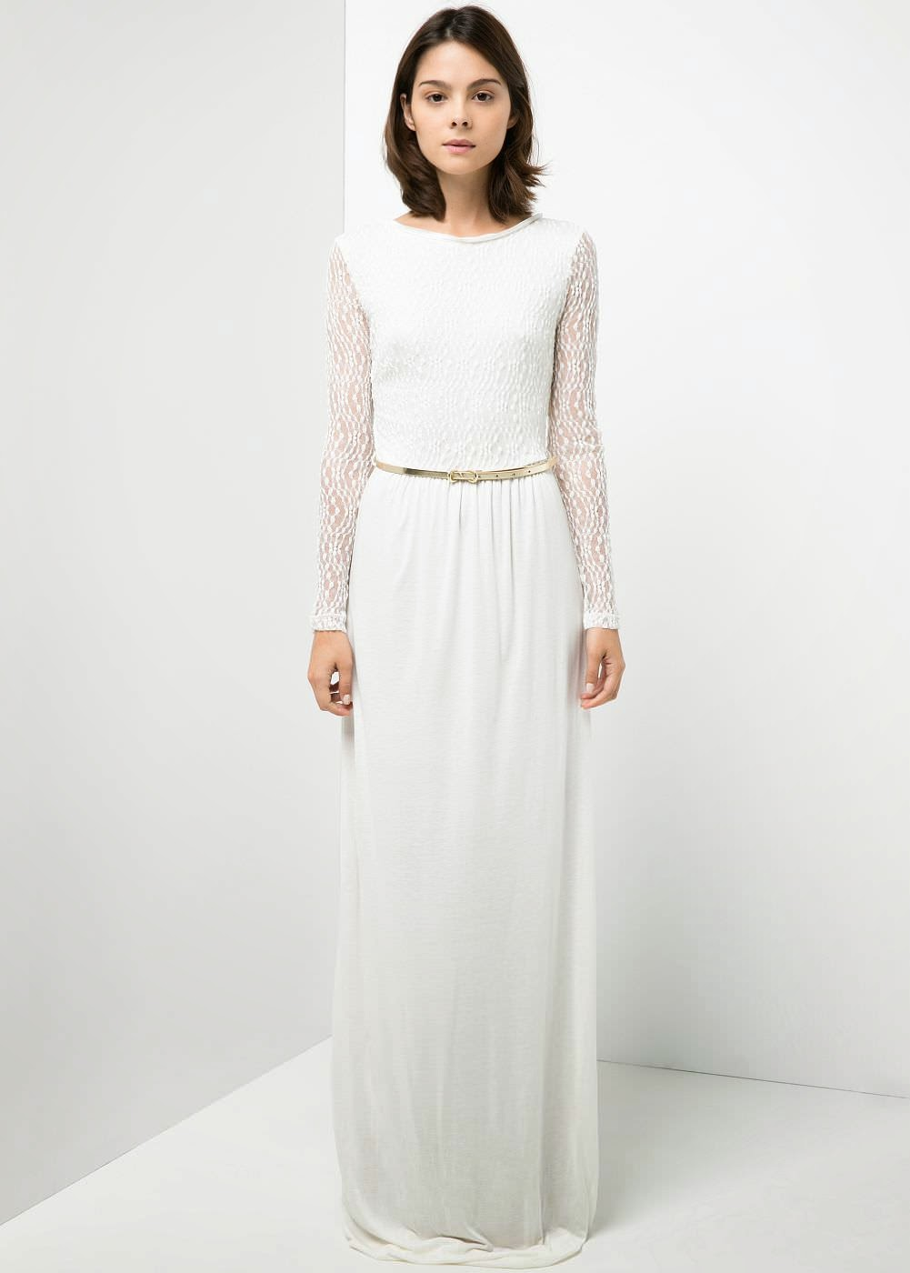 Lo White Lace Shoes