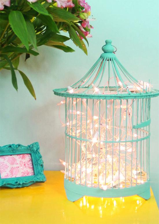 fio de luz, pisca pisca, luz de Natal, christmas light, Natal, decoração, diy, faça você mesmo, gaiola