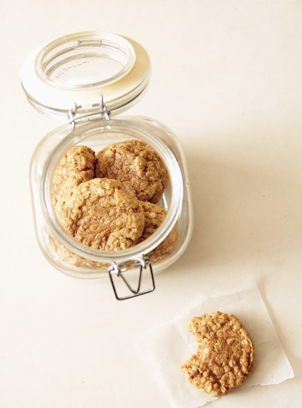 My Happy Place: chewy peanut butter oatmeal cookies