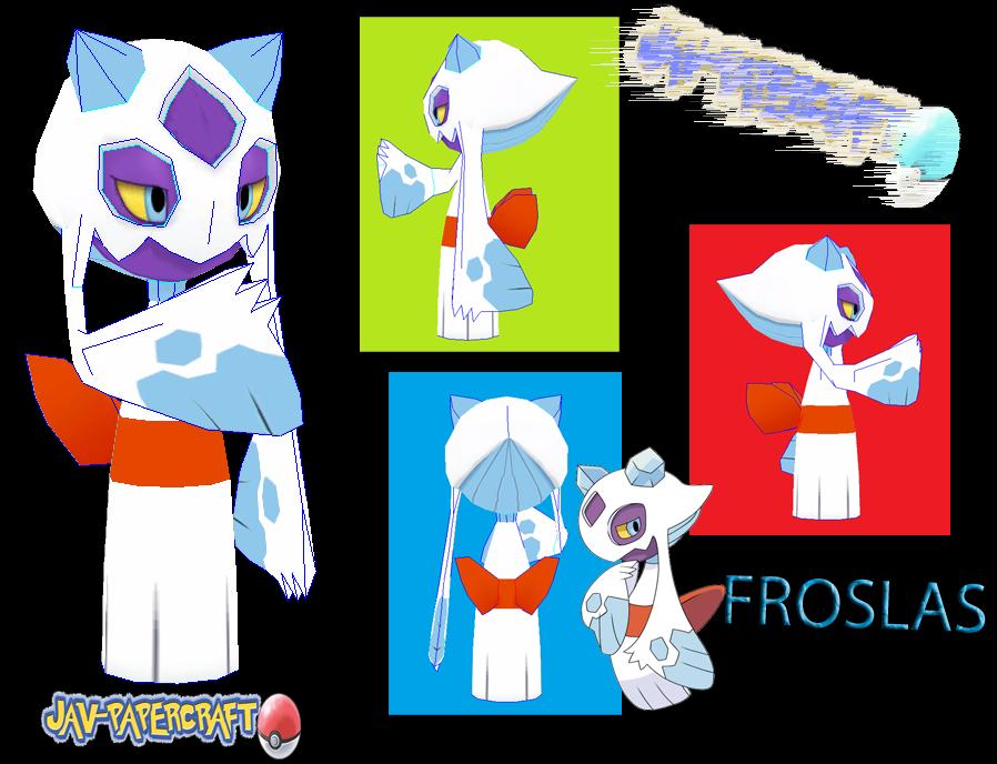 Froslass Paper Model
