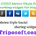 CSS3 Metro Style Social Networking Widget for Blogger