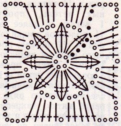 Схема вязания квадратиков